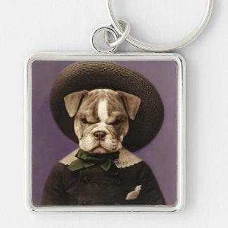 Cute Original Art Bulldog Puppy Keychain