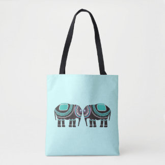 Cute Ornate Elephant Tote Bag