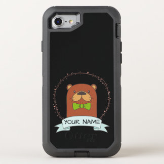 Cute Otter Cartoon OtterBox Defender iPhone 8/7 Case