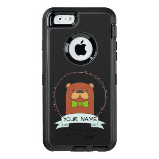 Cute Otter Cartoon Personalised OtterBox Defender iPhone Case