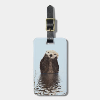 Cute Otter Face Nature Photo Luggage Tag