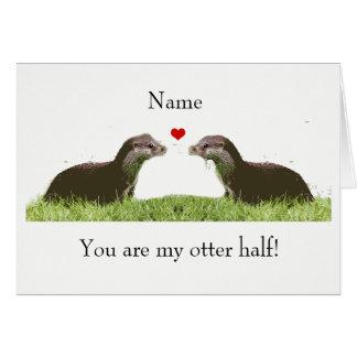 Cute otter half anniversary/ birthday card