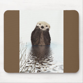 Cute Otter Wildlife Image Mouse Pad
