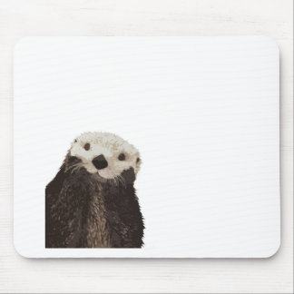 Cute otter with room to add your own text mouse pad