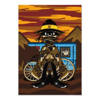 Cute Outlaw Cowboy RSVP Card
