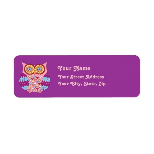 Cute Owl Address Labels