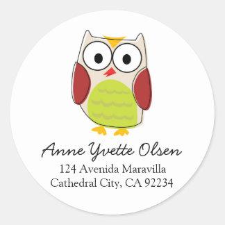 Cute Owl Address Labels