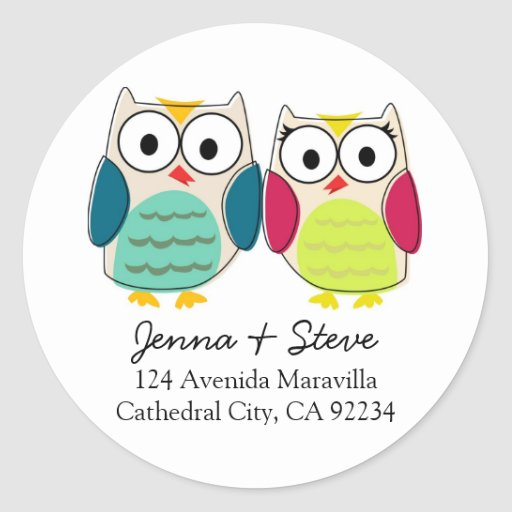 Cute Owl Address Labels Stickers
