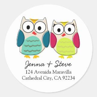 Cute Owl Address Labels Stickers
