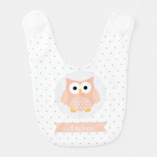 Cute Owl Baby Bib