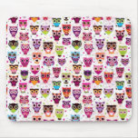 Cute owl background pattern for kids mouse pad