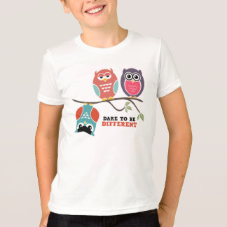 Cute Owl Cartoon Kid T-Shirt Dare to be Different