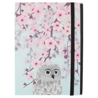 Cute Owl Cherry Blossoms Pastel