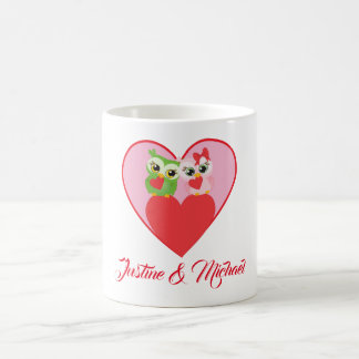 Cute Owl Couple in Love Coffee Mug