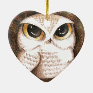 Cute Owl Christmas Ornament