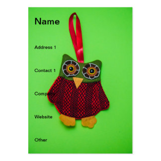 Cute owl decoration business card templates