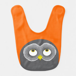 Cute Owl Design Bib