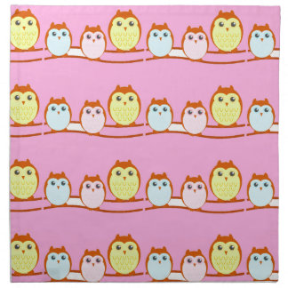 Cute Owl Family Napkin