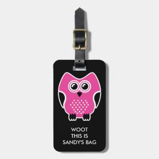 Cute Owl Funny Luggage Tag