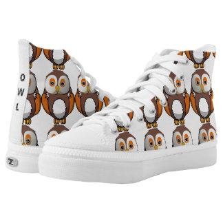 Cute Owl High Top Sneakers