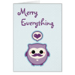 Cute Owl Holiday Greeting Card