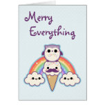 Cute Owl Holiday Greeting Cards