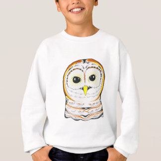 Cute Owl Ink Drawing Sweatshirt