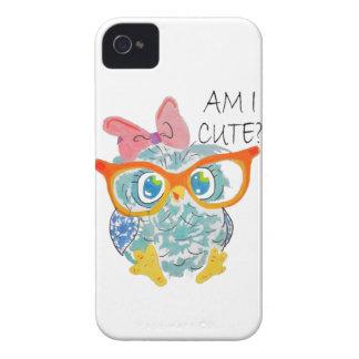 Cute Owl iPhone 4 Case-Mate Cases