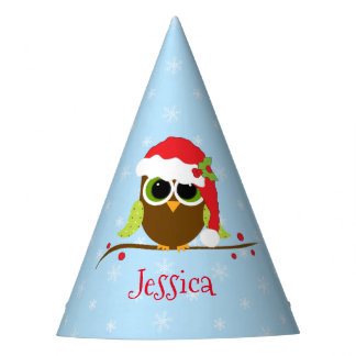 Cute Owl  Kids Personalized Christmas Party Hats