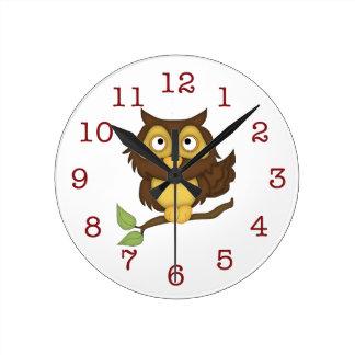 Cute Owl Kid's Wall-clock Clocks
