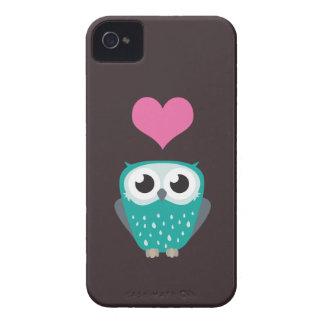 Cute Owl Love Heart Blackberry Bold Case