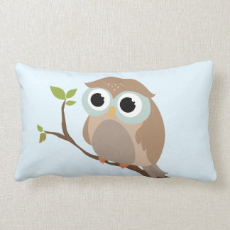 Cute owl lumbar cushion