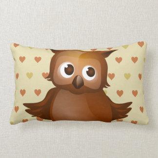 Cute Owl Lumbar Pillow