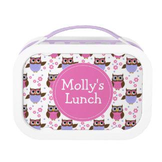 Cute Owl Pattern Kids Personalized Lunch Box