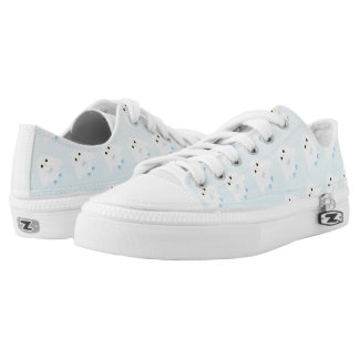 Cute owl pattern pastel blue white ombre low tops