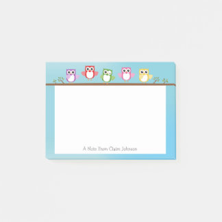 Cute Owl Personalized Post It Note