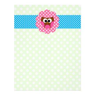 Cute owl polka dots custom flyer