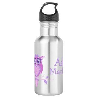 Cute owl purple kids drinks bottle 532 ml water bottle