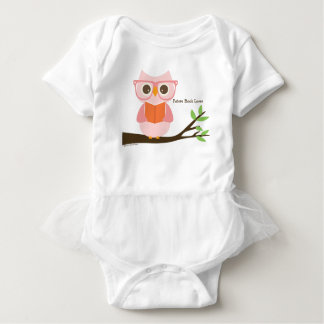 Cute Owl Reading Baby Bodysuit