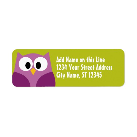 Cute Owl - Return Address Labels