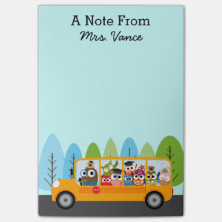 Cute Owl School Bus Driver Teacher Post-it® Notes