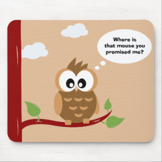 Cute Owl sitting in a Tree Mouse Pad