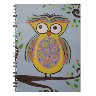 Cute Owl Spiral Notebook