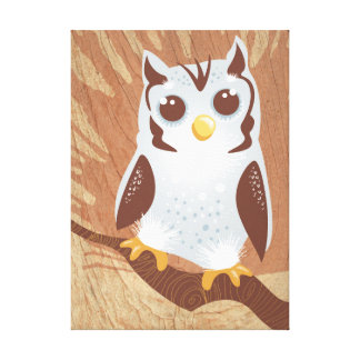 Cute Owl Stretched Canvas Print