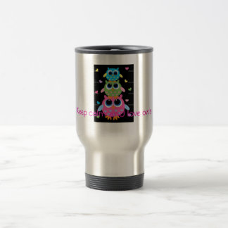 cute owl travel coffee mug