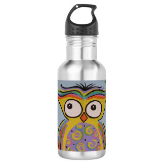 Cute Owl Water Bottle 532 Ml Water Bottle