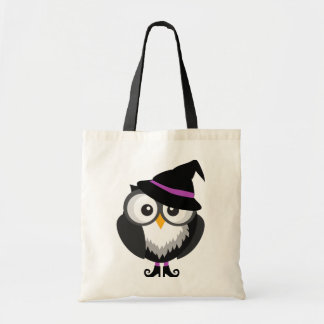 Cute Owl Witch Trick or Treat Bag