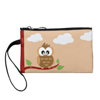Cute Owl with Big Bright Eyes Coin Purse