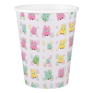 cute owls allover A Paper Cup