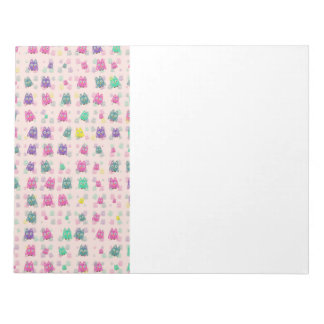 cute owls allover B Notepad